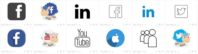 iconfinder simboli per i social