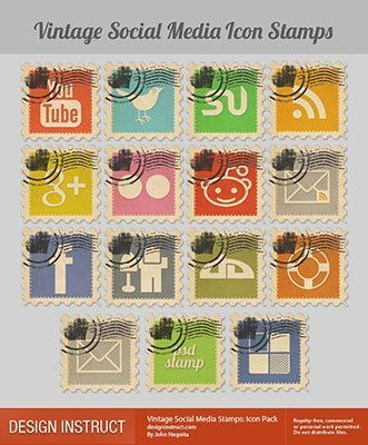 simboli social vintage